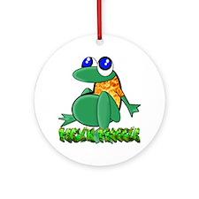Feelin Froggy Ornament (Round)