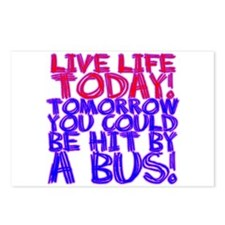 Live Life Today! Tomorrow You Postcards (Package o