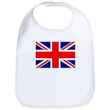 Union Jack or UK Flag Snap Bib