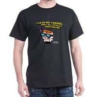 Dexter I Have No Friends Dark T-Shirt