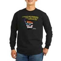 Dexter I Have No Friends Long Sleeve Dark T-Shirt