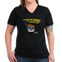 Dexter I Have No Friends Women's V-Neck Dark T-Shi
