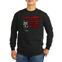 Mandark Excellent! Long Sleeve Dark T-Shirt