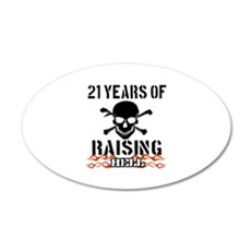21 Years of Raising Hell 22x14 Oval Wall Peel