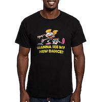 Wana See My New Dance? Men's Fitted T-Shirt (dark)