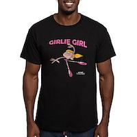 DeeDee Girlie Girl Men's Fitted T-Shirt (dark)