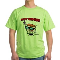 Dexter Boy Genius Green T-Shirt