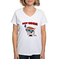 Dexter Boy Genius Women's V-Neck T-Shirt