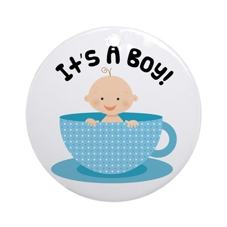 It's A Boy Teacup Baby Keepsake Ornament