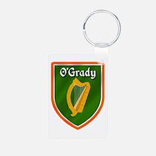 O'Grady Ancestry Crest Aluminum Photo Keychain