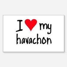 I LOVE MY Havachon Decal