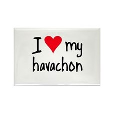 I LOVE MY Havachon Rectangle Magnet