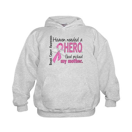 Heaven Needed a Hero Breast Cancer Kids Hoodie