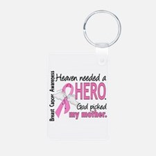 Heaven Needed a Hero Breast Cancer Keychains