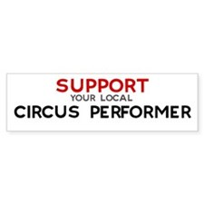Support: CIRCUS PERFORMER Bumper Car Sticker