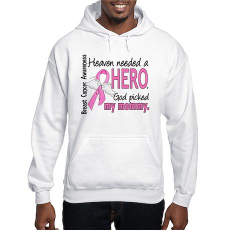 Heaven Needed a Hero Breast Cancer Hooded Sweatshi