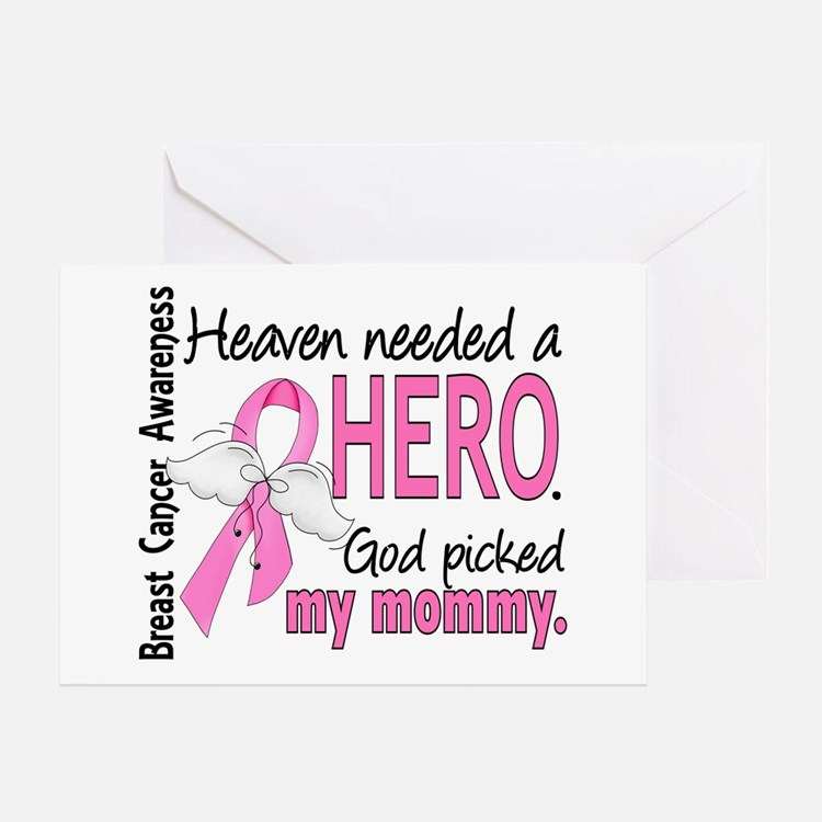 Heaven Needed a Hero Breast Cancer Greeting Card