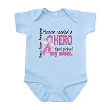 Heaven Needed a Hero Breast Cancer Infant Bodysuit