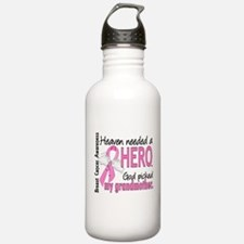 Heaven Needed a Hero Breast Cancer Water Bottle