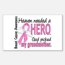 Heaven Needed a Hero Breast Cancer Decal