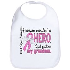 Heaven Needed a Hero Breast Cancer Bib