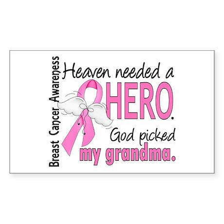 Heaven Needed a Hero Breast Cancer Sticker (Rectan