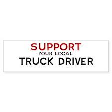 Support: TRUCK DRIVER Bumper Bumper Sticker