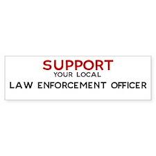 Support: LAW ENFORCEMENT OFF Bumper Bumper Sticker