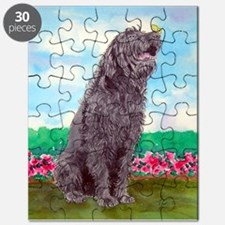 Black Labradoodle and Butterf Puzzle