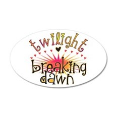 Breaking Dawn 38.5 x 24.5 Oval Wall Peel