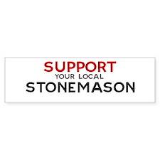 Support: STONEMASON Bumper Bumper Sticker