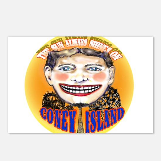 Cute Coney island Postcards (Package of 8)