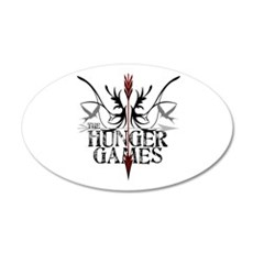 Hunger Games Gear the Arrows 38.5 x 24.5 Oval Wall