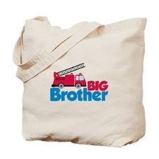 Fire Engine Big Brother Tote Bag