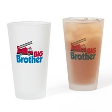 Fire Engine Big Brother Drinking Glass