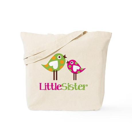 Polka Dot Birds Little Sister Tote Bag