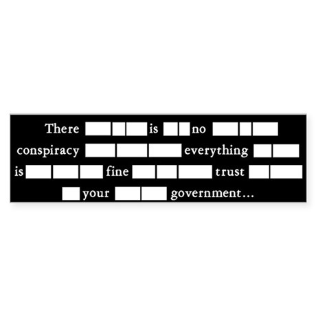 No Government Conspiracy...