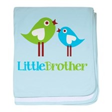 Tweet Birds Little Brother baby blanket
