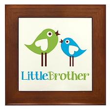 Tweet Birds Little Brother Framed Tile