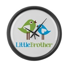 Tweet Birds Little Brother Large Wall Clock