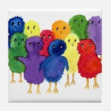Easter Chicks Tile Coaster