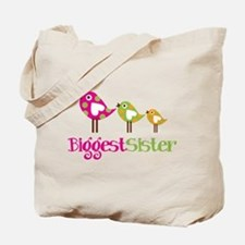 Tweet Birds Biggest Sister Tote Bag