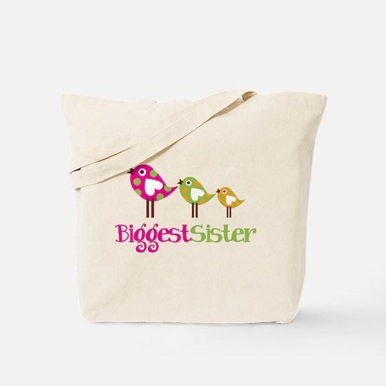 Tweet Birds Biggest Sister Tote Bag