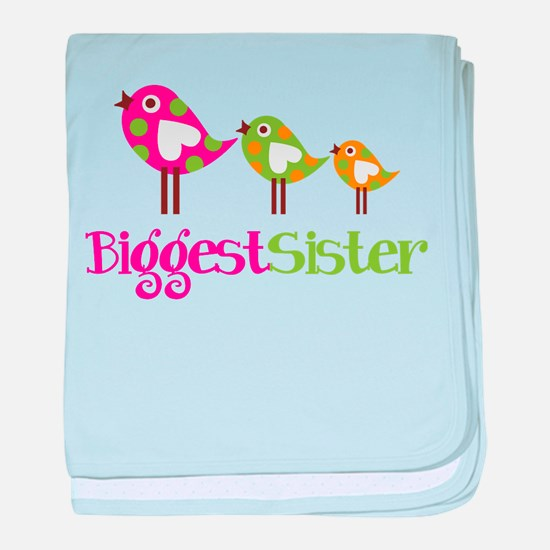 Tweet Birds Biggest Sister baby blanket