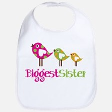 Tweet Birds Biggest Sister Bib