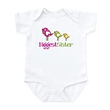 Tweet Birds Biggest Sister Infant Bodysuit