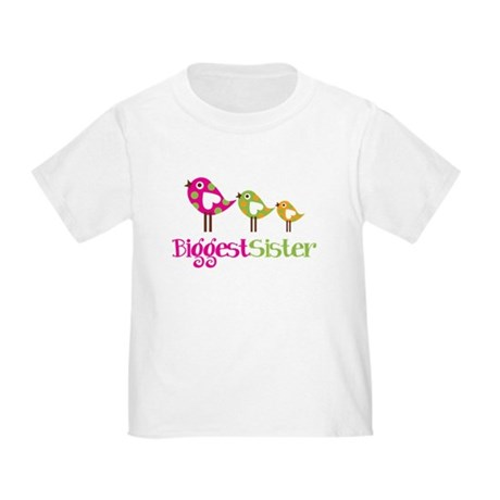 Tweet Birds Biggest Sister Toddler T-Shirt