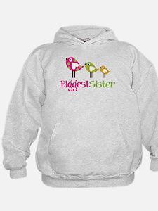 Tweet Birds Biggest Sister Hoodie
