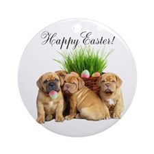 Easter Dogue de Bordeaux Ornament (Round)