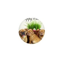 Easter Dogue de Bordeaux Mini Button
